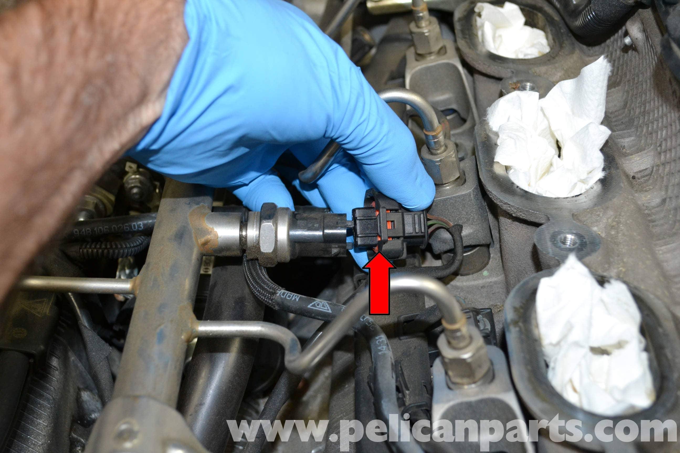 Porsche Cayenne High Pressure Fuel Sensor Replacement  955
