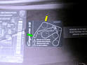Here is the diagram sticker located on the front of the engine compartment.