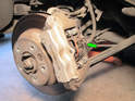 Shown here is the complete rear brake assembly on your Porsche Cayenne.