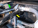 After you have relieved the pressure in the fuel line, disconnect the fuel rail from the supply line.