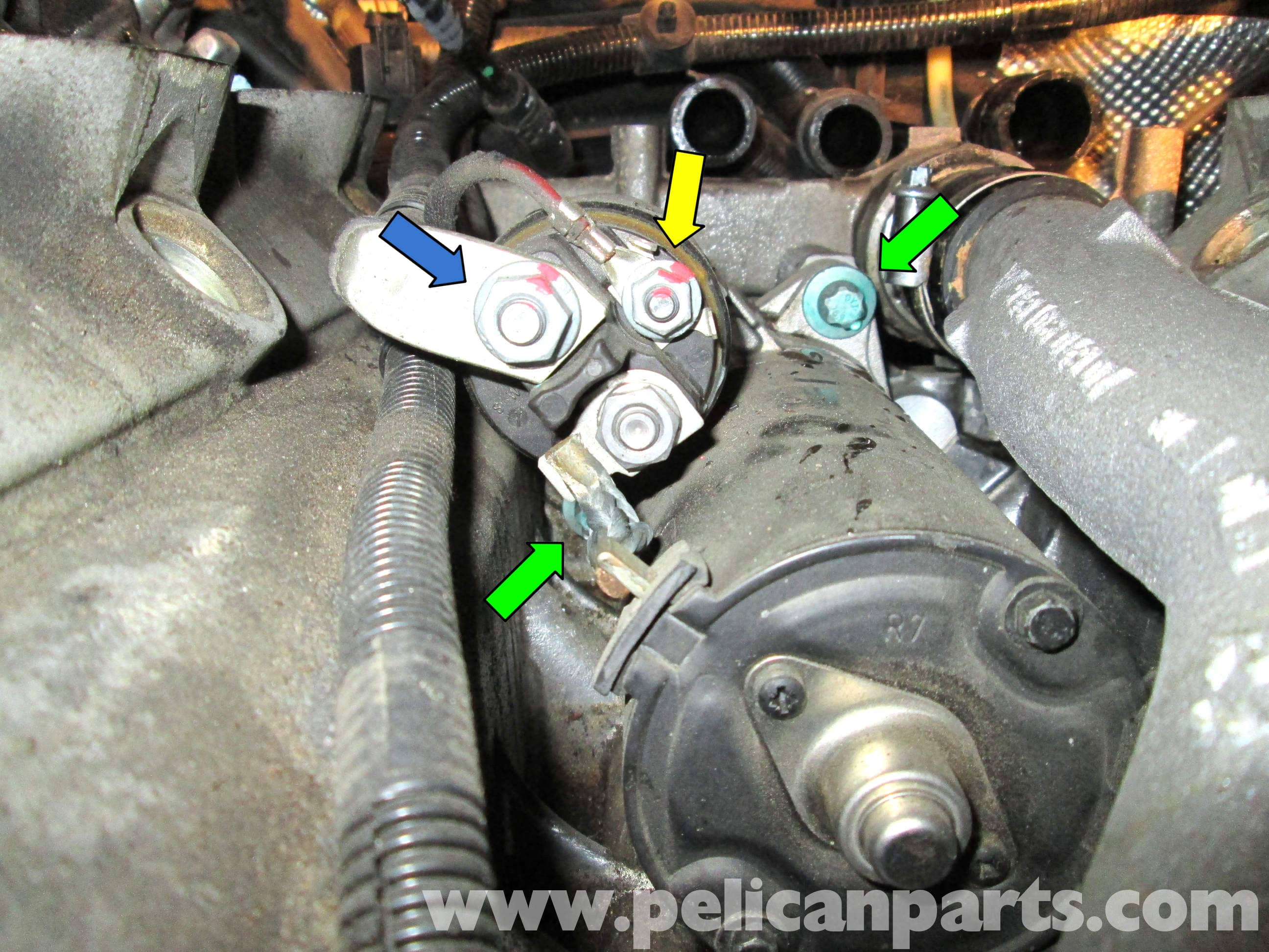 porsche cayenne starter replacement 2003 2008 pelican parts diy maintenance article
