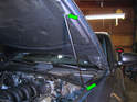 Now install the new hood shock.