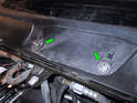 Take note of the two plastic base pieces (green arrows) underneath the wiper arms.