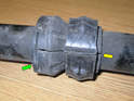 Shown here is a closeup of the bushing halves.