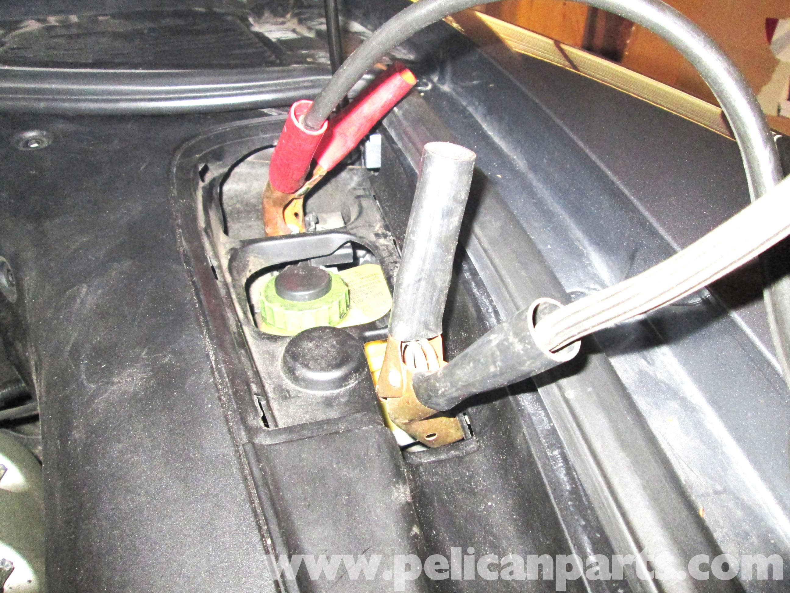 Installing New Car Battery >> Porsche Cayenne Jump Starting and Charging   2003-2008   Pelican Parts DIY Maintenance Article