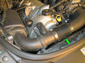 Also be sure to check the hoses (green arrow) on both sides leading from the air filter housings to the throttle body.