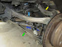 This picture shows the three link arms on the rear suspension.