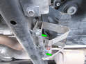 Once the vehicle is firmly supported on jack stands and level, remove the underbody trays (see our article on Underbody Tray Removal for more info).