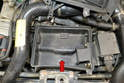 Don't forget to clean the bottom of the air box (red arrow) before re-installing the lid and new filter.