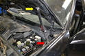 Hood shock: Both shocks are located at the rear of the engine compartment by the base of the windshield.