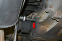 Insert the 17mm Allen and make sure it is properly seated (red arrow) and remove the fill plug first and then the drain plug.