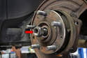 If you live in a four-season climate you may need to use a puller to press the axle out from the wheel flange.