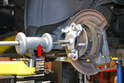 You will need a bearing puller to remove the wheel flange.