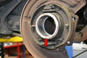 With the bearing removed clean the inside and check for any damage or cracks.