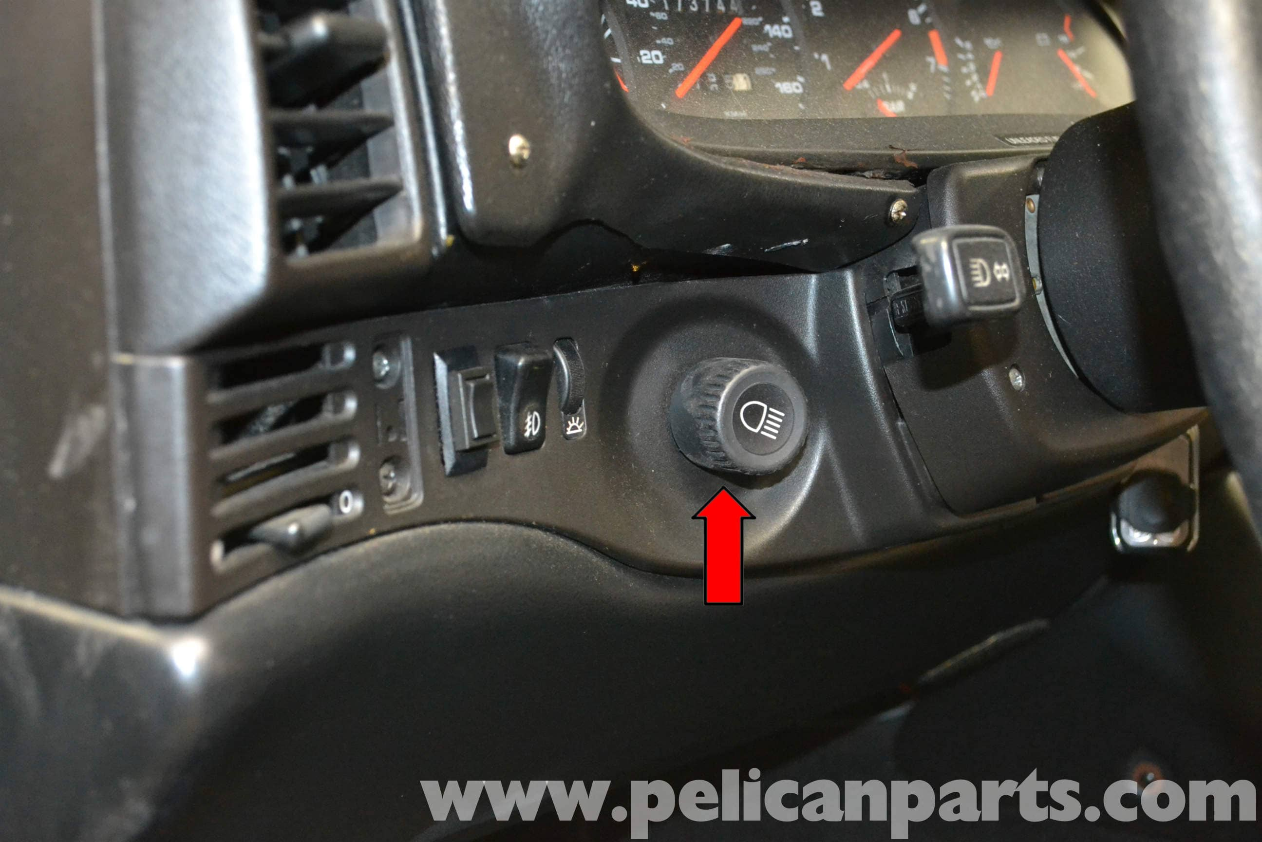 porsche 944 turbo headlight switch replacement 1986 1991 pelican parts diy maintenance article