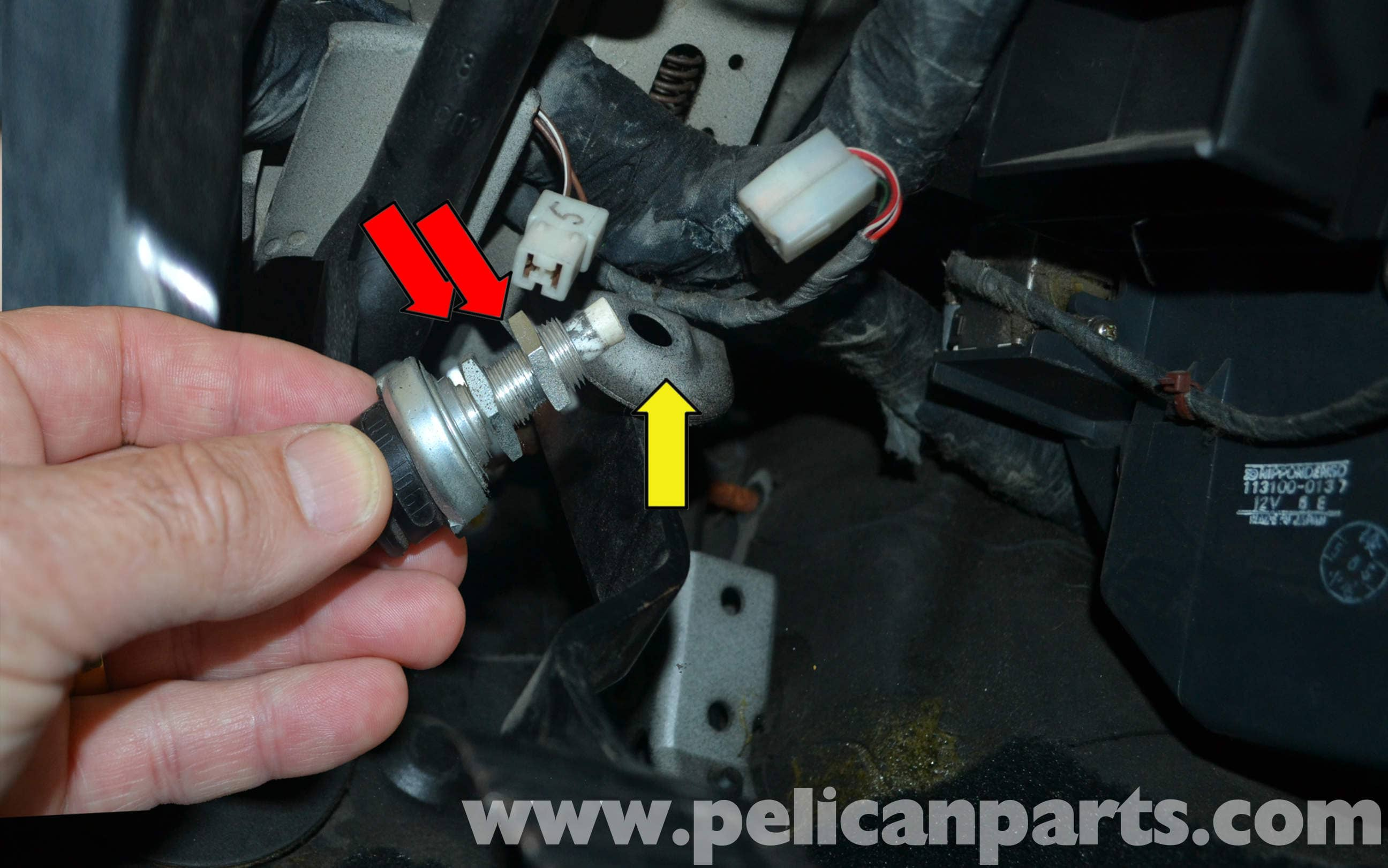 Porsche 944 Turbo Brake Light Switch Replacement 1986
