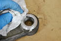 Make sure to give everything a good cleaning, making sure to get everything out of the retaining ring groove.