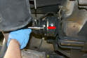 There are six 8mm triple square bolts that hold the axle to the transmission or differential flange.