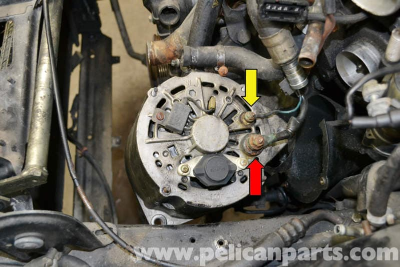 porsche turbo alternator replacement pelican everything removed you can now easily and safely move the alternator out of position and