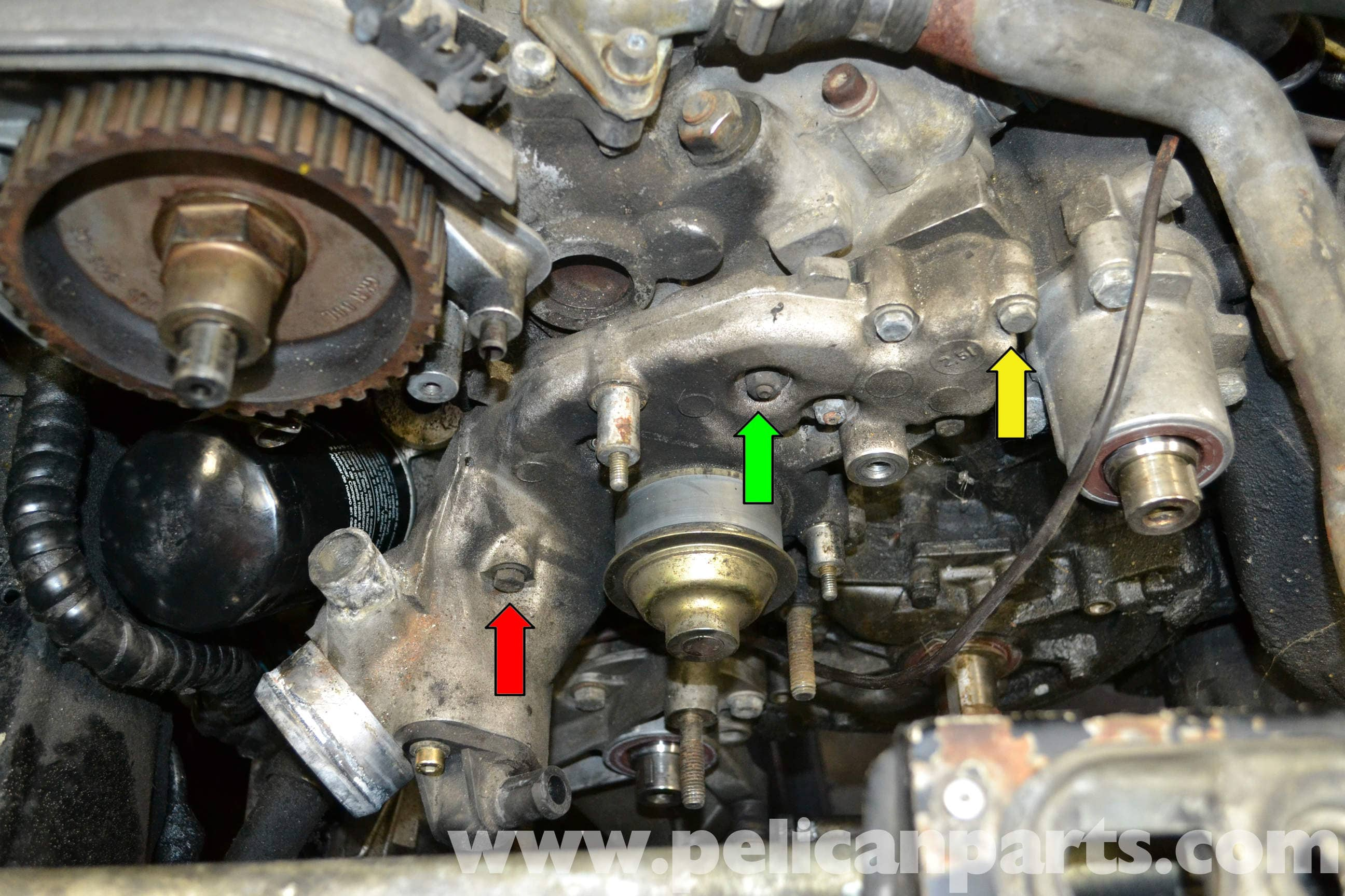 porsche 944 turbo water pump replacement 1986 1991 pelican