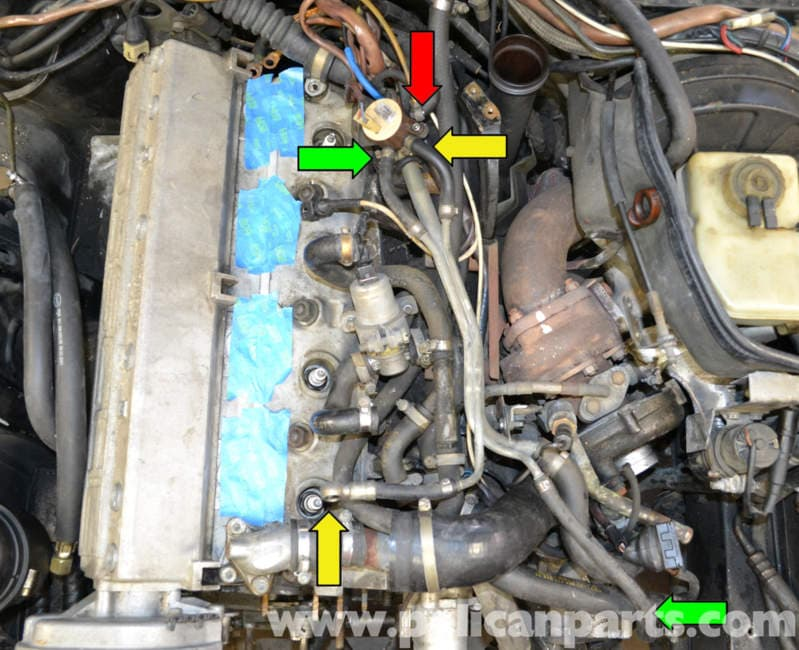 Porsche 944 Turbo Vacuum Lines  1986