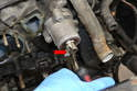 You will need to remove the Woodruff key from the balance shaft (red arrow).