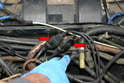 When changing the sensors make sure to change one at a time and do not mix up the sensors and connections (red arrows).