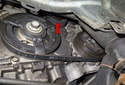 This photo shows the belt tensioner.