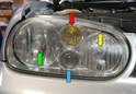 Headlight assemblies on GTI Mark 4s can vary depending on the model with some including a fog light.