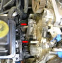 With the roller removed you can see the piston attached to the engine.