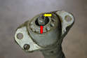 If you are changing shocks remove the upper mounting bracket.