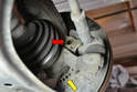 Clean the mounting area (red arrow) of any rust, grime or debris.
