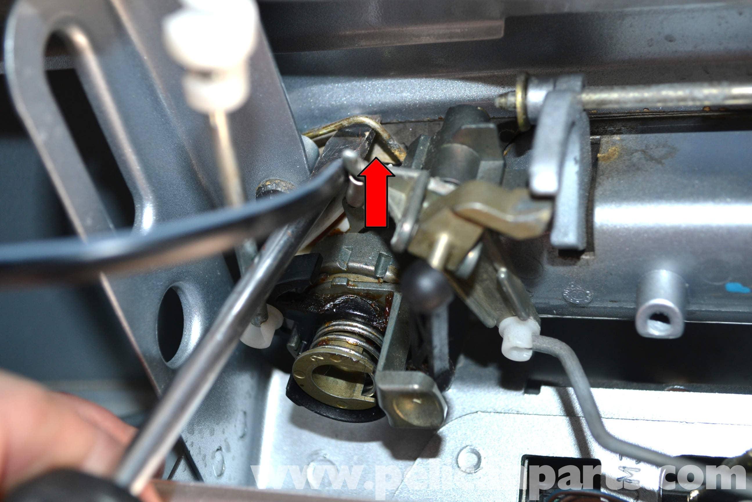 Volkswagen Golf Gti Mk Iv Hatch Lock Tumbler Handle And
