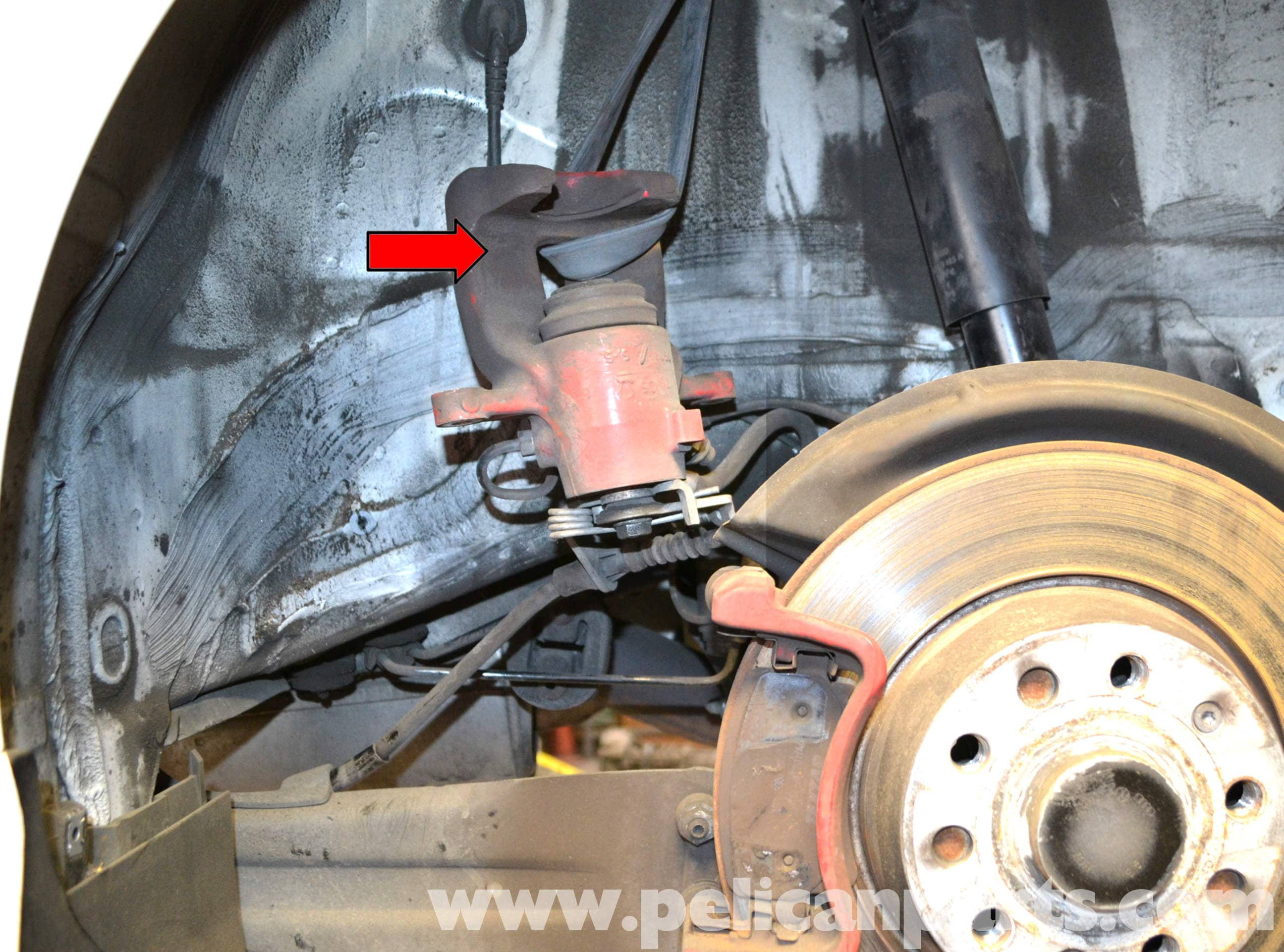 how to change mk 4 golf rear brake pad