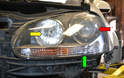 Headlight assemblies on GTI MkV can vary depending on the model.