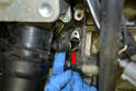Remove the bolt and the sensor from the engine.