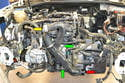 With the front of the vehicle removed you can see the components that you will need to remove to get access to the throttle body.