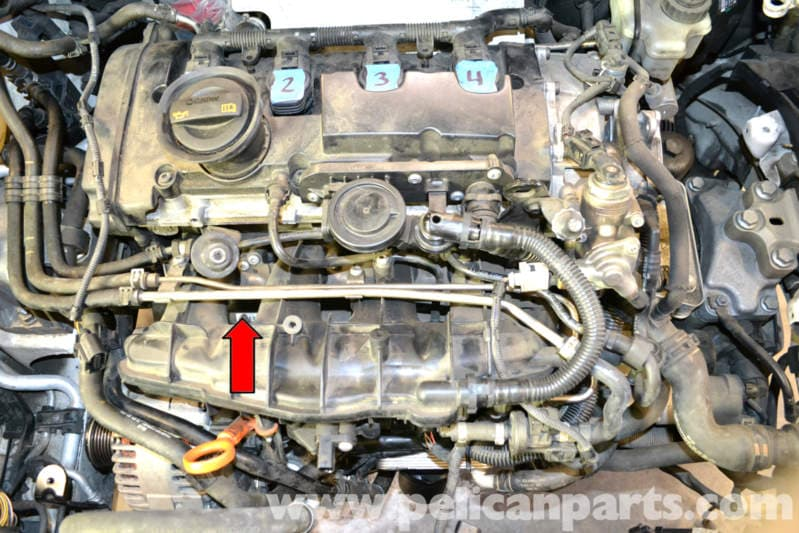 volkswagen golf gti mk  fuel rail pressure sensor