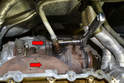 There are four 16mm nuts holding the exhaust bracket of the turbo to the cat.