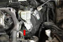 The switch is located on the right lower side of the master cylinder (red arrow).