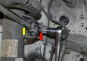 If the joint starts turning with the wrench you can use a 16mm triple square to hold the bolt (red arrow) and turn the nut (yellow arrow) with a wrench.