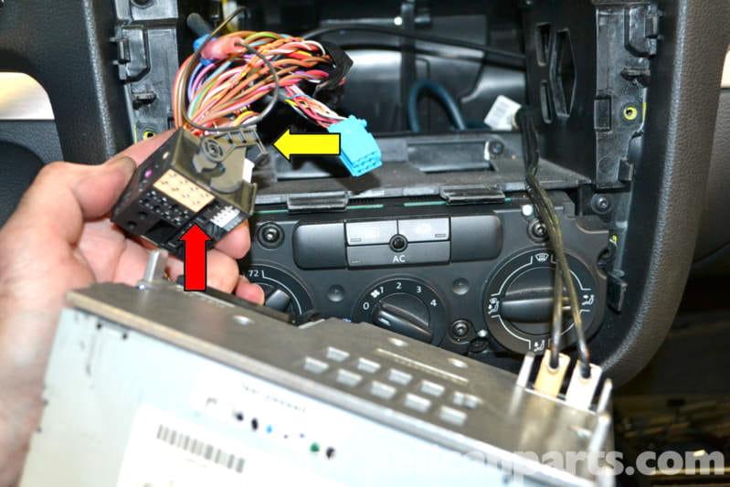 Volkswagen Golf Gti Mk V Radio Removal  2006