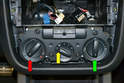 You need to set the control knobs at specific places to remove the wiring harness and when you reinstall the unit.