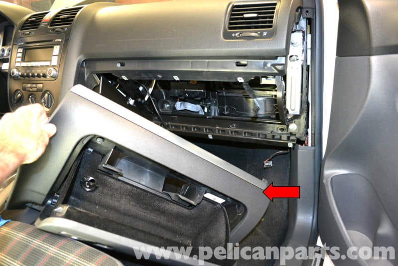 Volkswagen Golf Gti Mk V Glove Box Removal 2006 2009