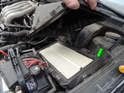 Shown here is the air filter below.