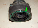 Left and Right Sides - Be sure to replace the small gaskets (green arrows) on the CV joints attached to the transmission.