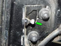 Put a dab of moly grease on the upper and lower ball pivots (green arrow) and then pop the new shocks on.
