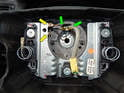 Remove the wire harness from the airbag to the clock spring if you didn't when removing the airbag.