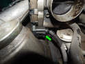Don't forget to remove the electrical connector from the throttle body (green arrow).