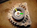 In some cases, you'll need to transfer the pulley from the old alternator to the new one.